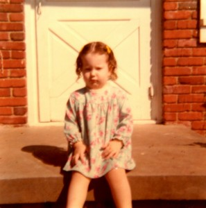 Two year old me is not locked out of the house. But I look sort of like how I feel when I am.
